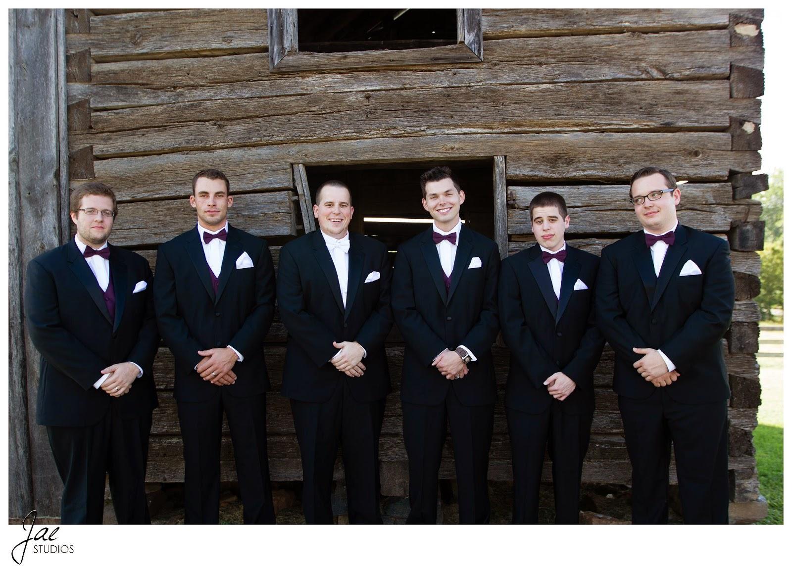 Jonathan and Julie, Bird cage, West Manor Estate, Wedding, Lynchburg, Virginia, Jae Studios, groomsmen, best man, posing, wood building