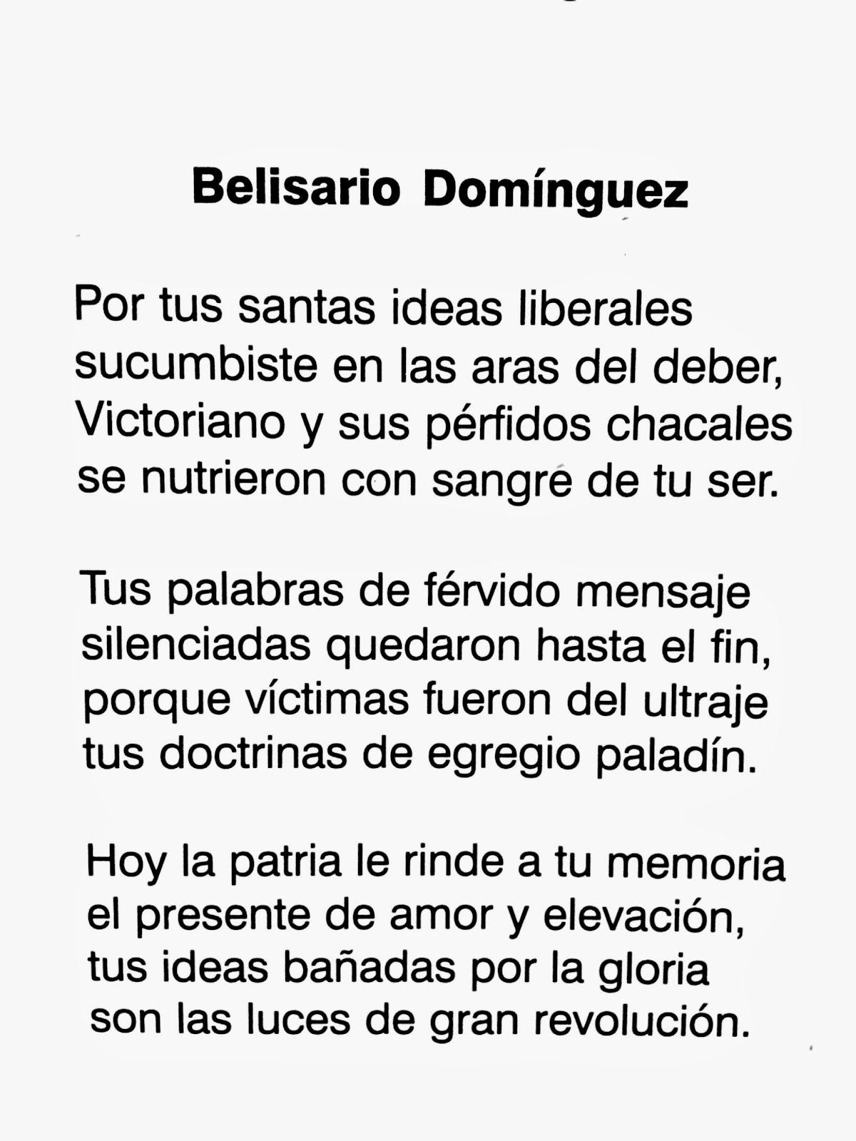 Poesía a Belisario Dominguez