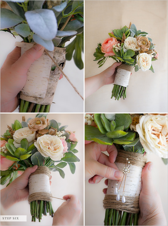 di festa non solo wedding how to make a fake flower bridal bouquet