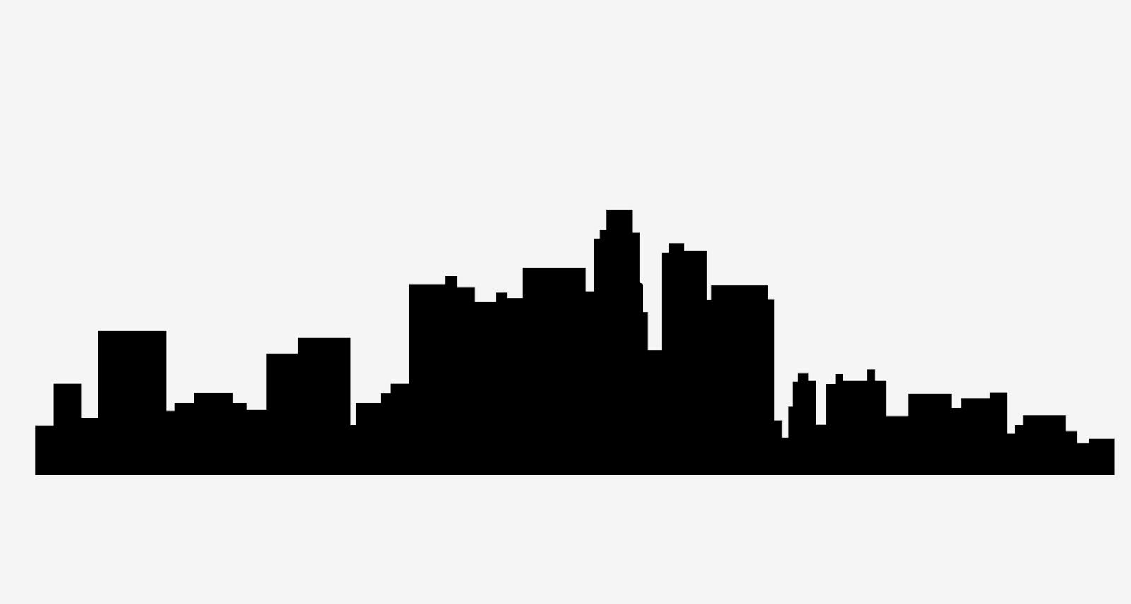 los angeles skyline free svg vector file rh svgfree blogspot com  los angeles skyline silhouette vector free