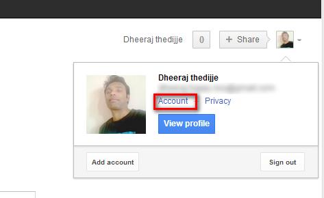 Google Account Setting Screenshot: Intelligent Computing