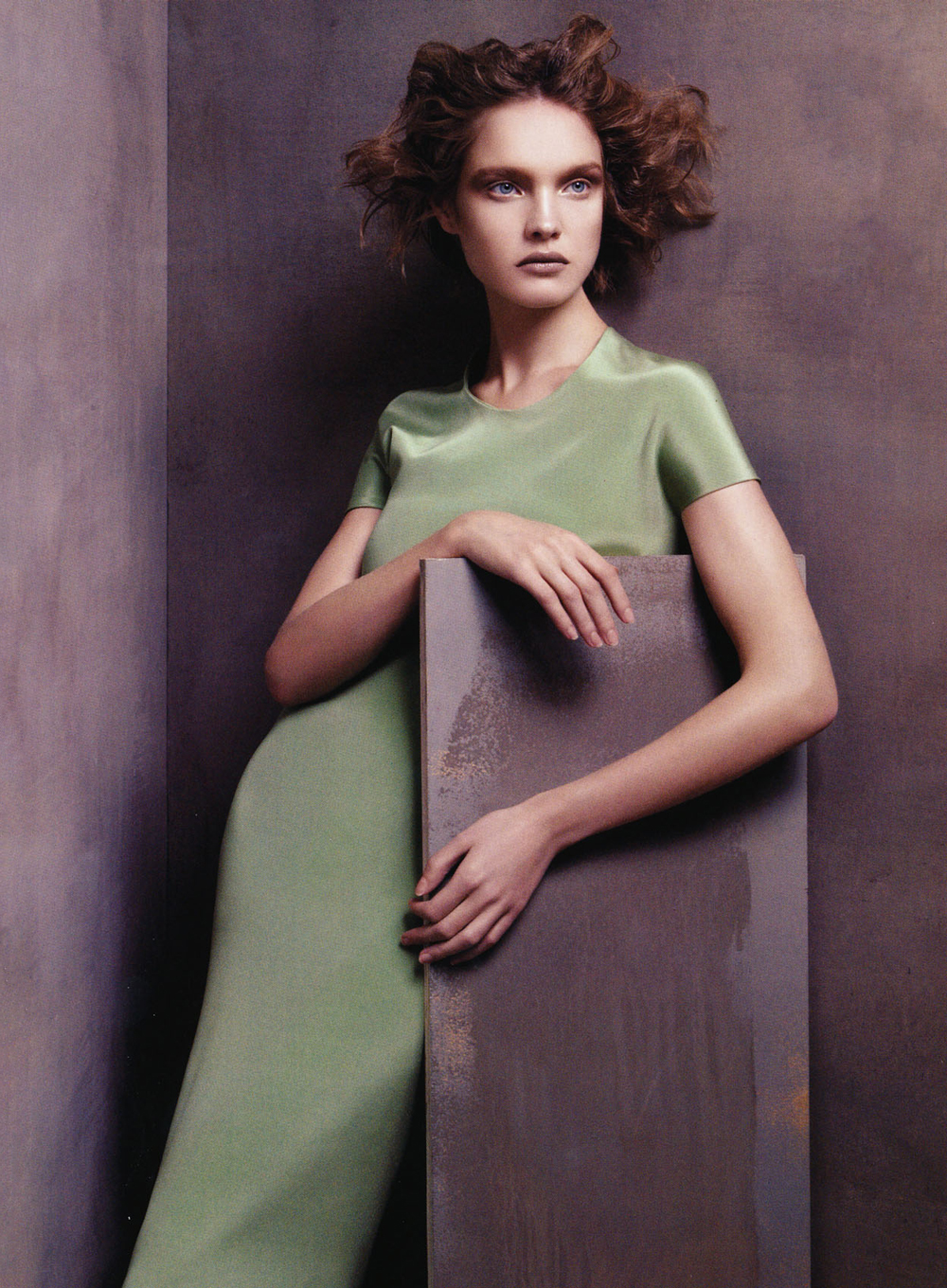Peerless Natalia Vodianova wearing Calvin Klein in Vogue US January 2008 (photography: Steven Meisel, styling: Grace Coddington) via www.fashionedbylove.co.uk
