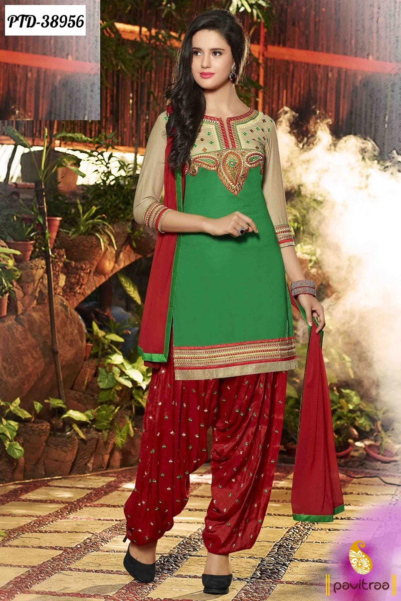 Traditional Punjabi Patiala Salwar Suits Collection Online Shopping ...