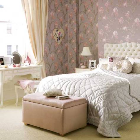 Love the rug  I m inspired. Key Interiors by Shinay  Vintage Style Teen Girls Bedroom Ideas