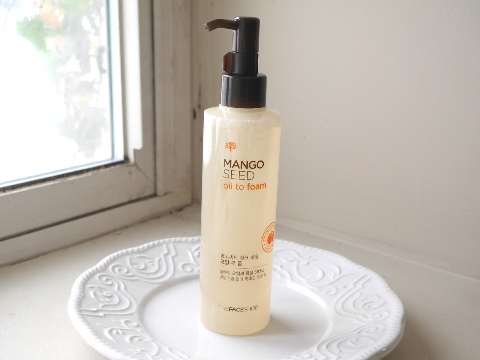 the face shop mango seed oil to foam cleanser review