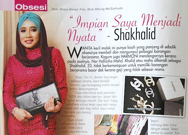 premium beautiful sha khalid dalam majalah harmoni july 1
