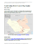 Map of rebel control in South Sudan's 2013-2014 political crisis, updated to Jan. 3, 2014