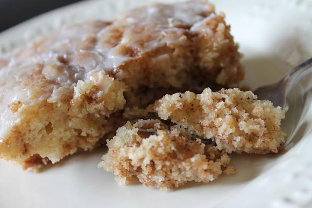 Cinnamon Roll Cake Via The Taste Tester