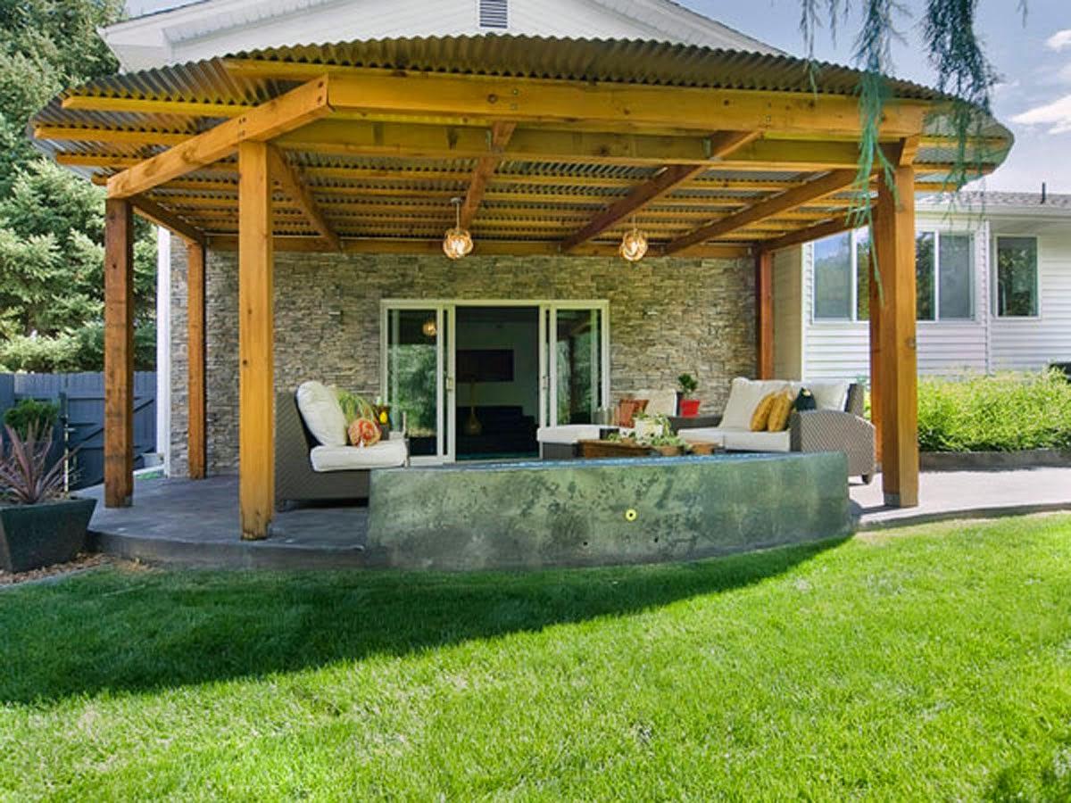 Pole-terrace-design-house-Classical Model
