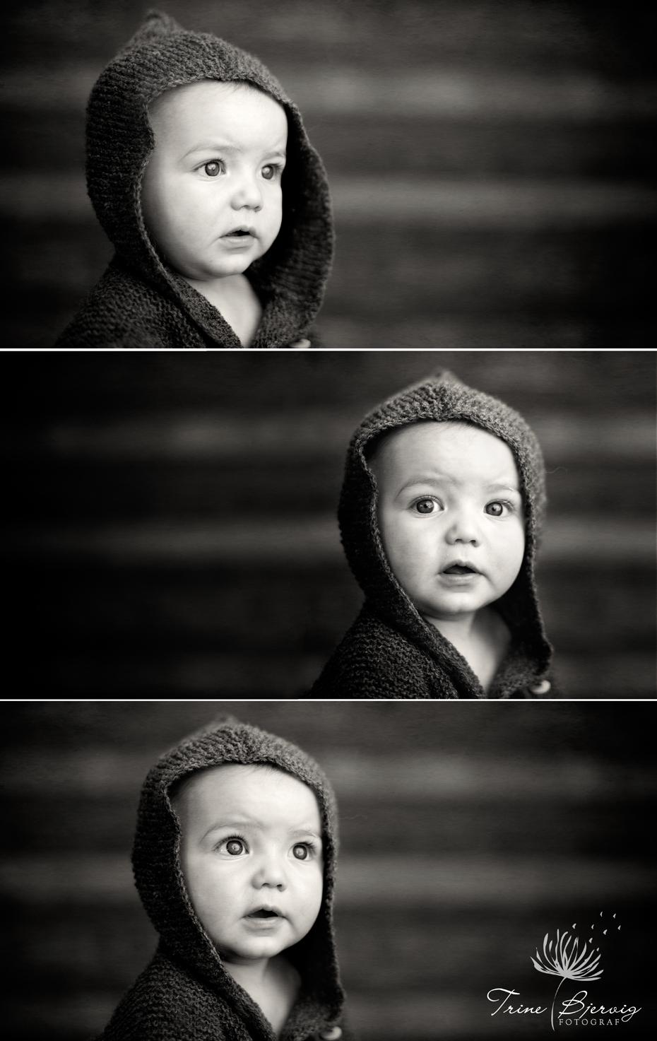 svart/hvitt barnebilder av gutt fra oslo, fotografert av fotograf trine bjervig i tønsberg