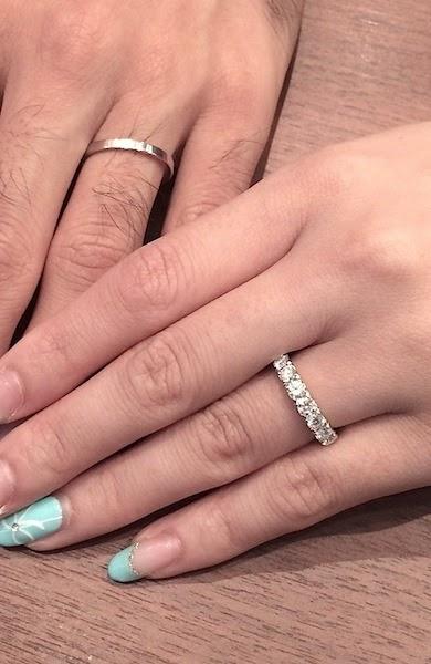 リフォームで華やかなマリッジリング(結婚指輪)をオーダーしました。