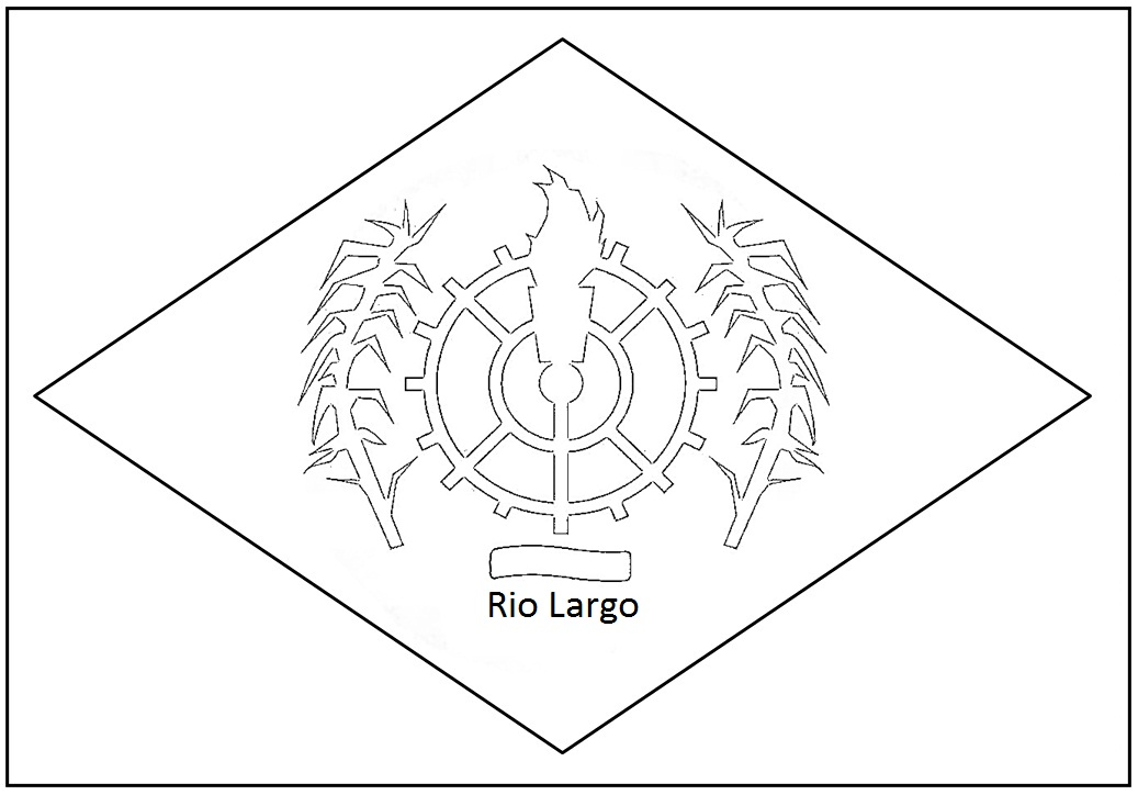 para colorir Rio Largo bandeira