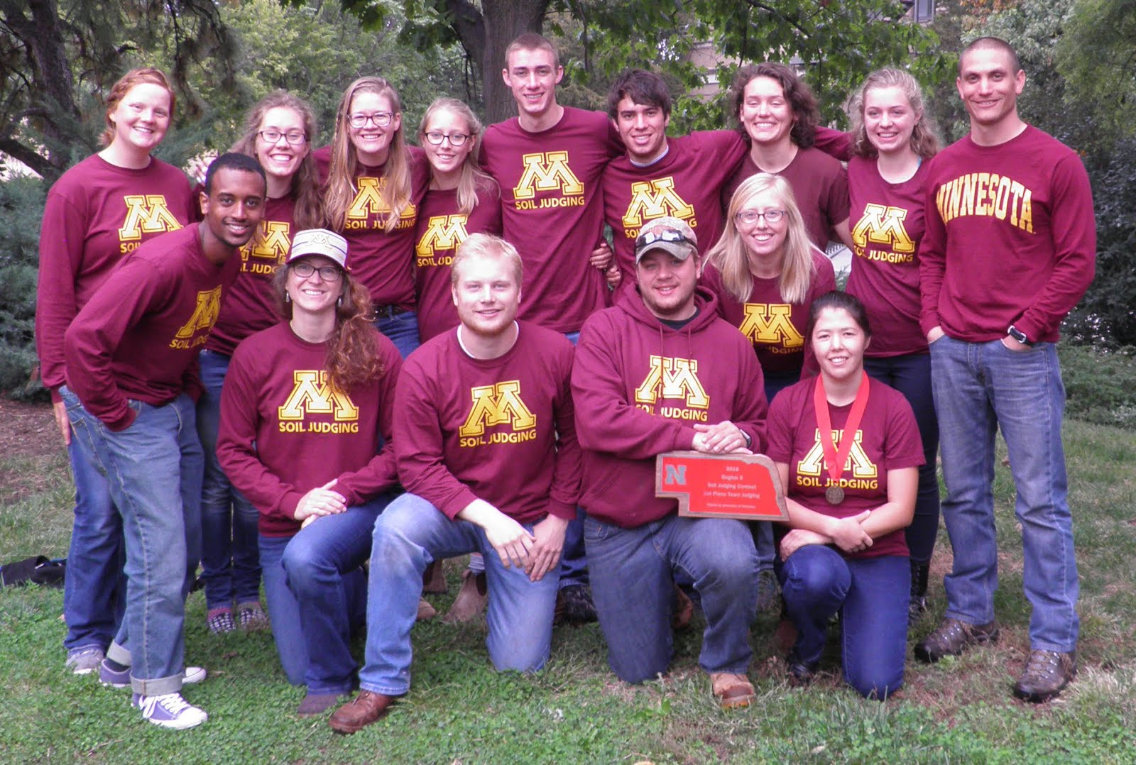 2016 University of Minnesota Soil Judging Team