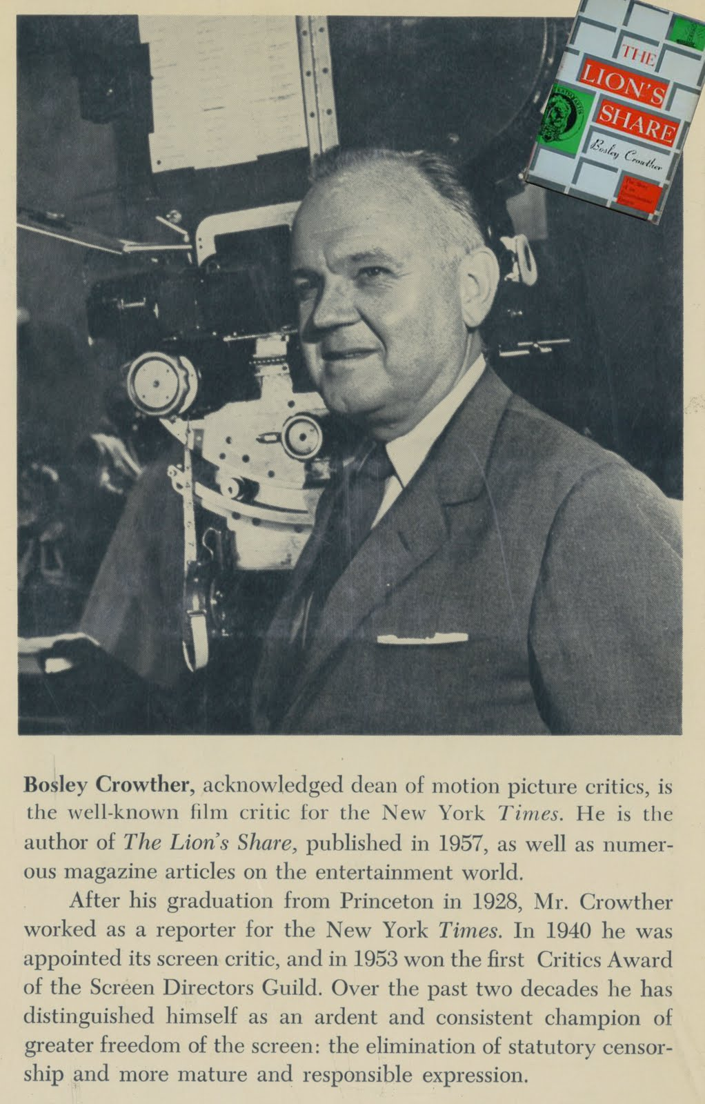 Bosley Crowther #