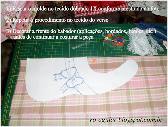 Babador de Bebê com molde e PAP (DIY) - patchwork