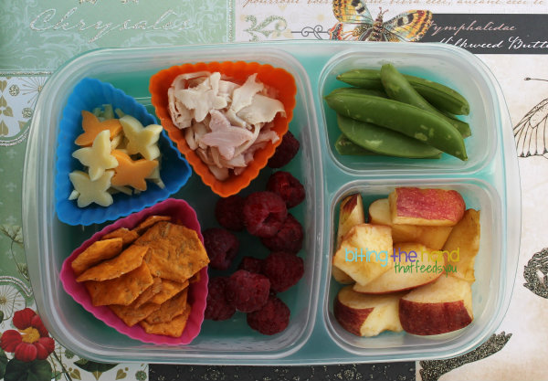 "DIY ""Lunchables"" Cracker Stacker for toddler"