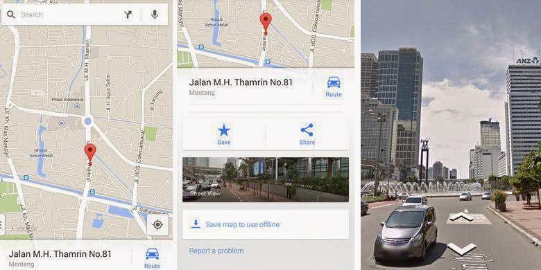 Google Street View Indonesia via HP / Tablet