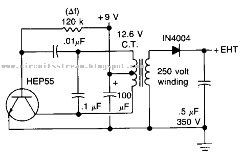 the high voltage geiger counter supply circuit diagram