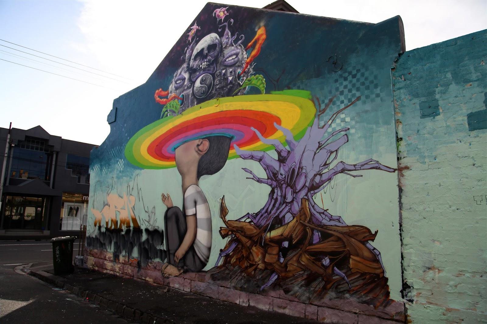 Seth x makatron x sirum x plea x dem189 new mural in for Australian mural