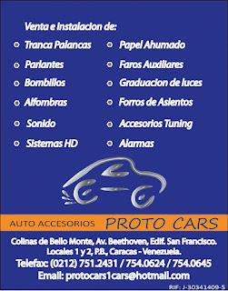 AUTO ACCESORIOS PROTO CARS en Paginas Amarillas tu guia Comercial