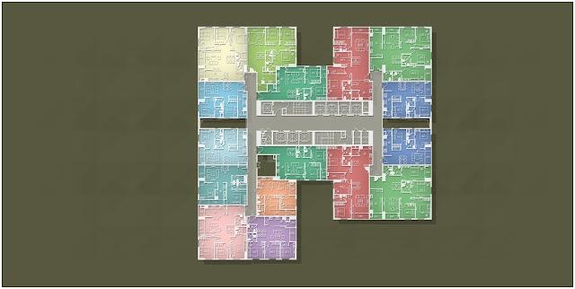 Mặt bằng căn hộ Imperia Garden Tháp B tầng 12