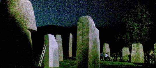 Nächtlicher Skulpturenpark