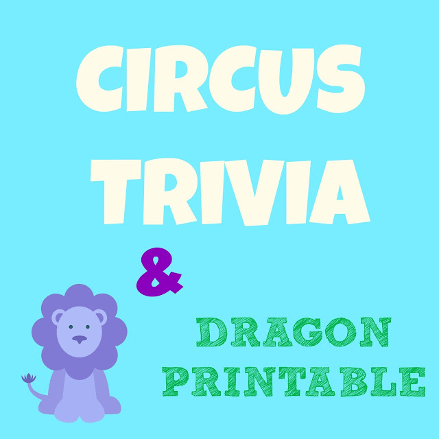 Circus Trivia Questions: Cute Dragon Clipart Printable