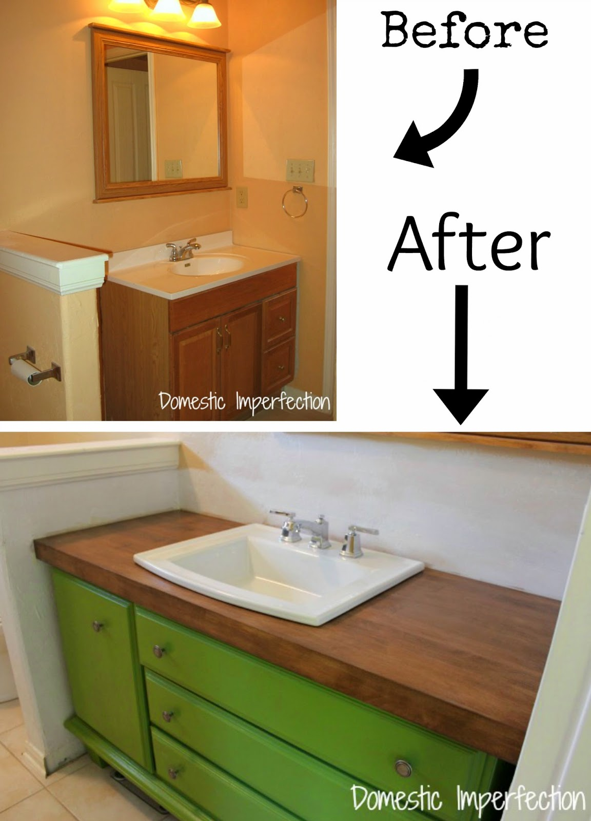 Bathroom Vanities Diy pneumatic addict : 7 best diy bathroom vanity makeovers