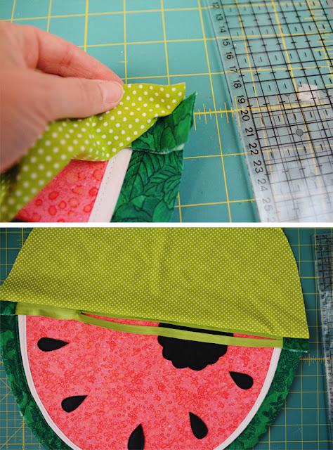 Ich habe eine Wassermelone getragen - ein DIY für eine Wassermelonen-Clutch @frauvau.blogspot.de
