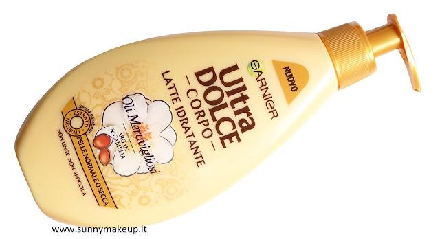 Garnier Ultra Dolce Corpo. Linea Oli Meravigliosi. Latte Idratante.
