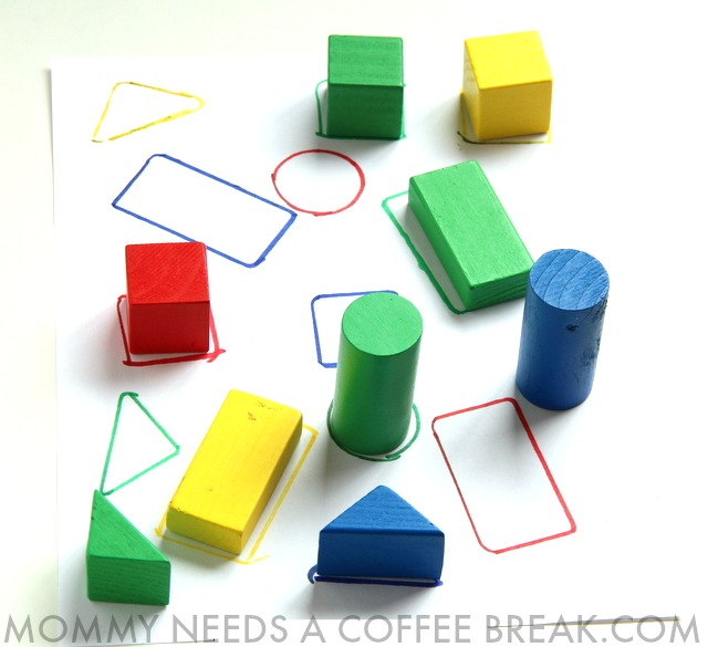 3D shapes DIY puzzle busy bag for Kindergarteners