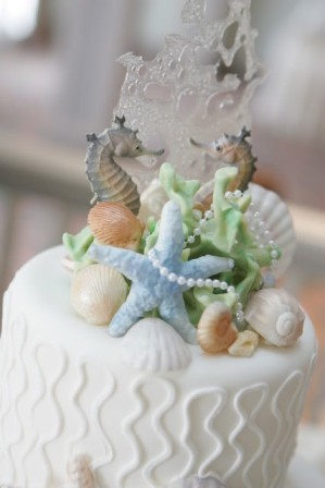 Edible Seashells for Wedding Cakes http://delsshells.blogspot.com/2011/08/seashell-saturday.html