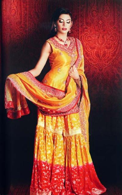 Mehndi Dresses 7 - Bridal Mehendi Dressez