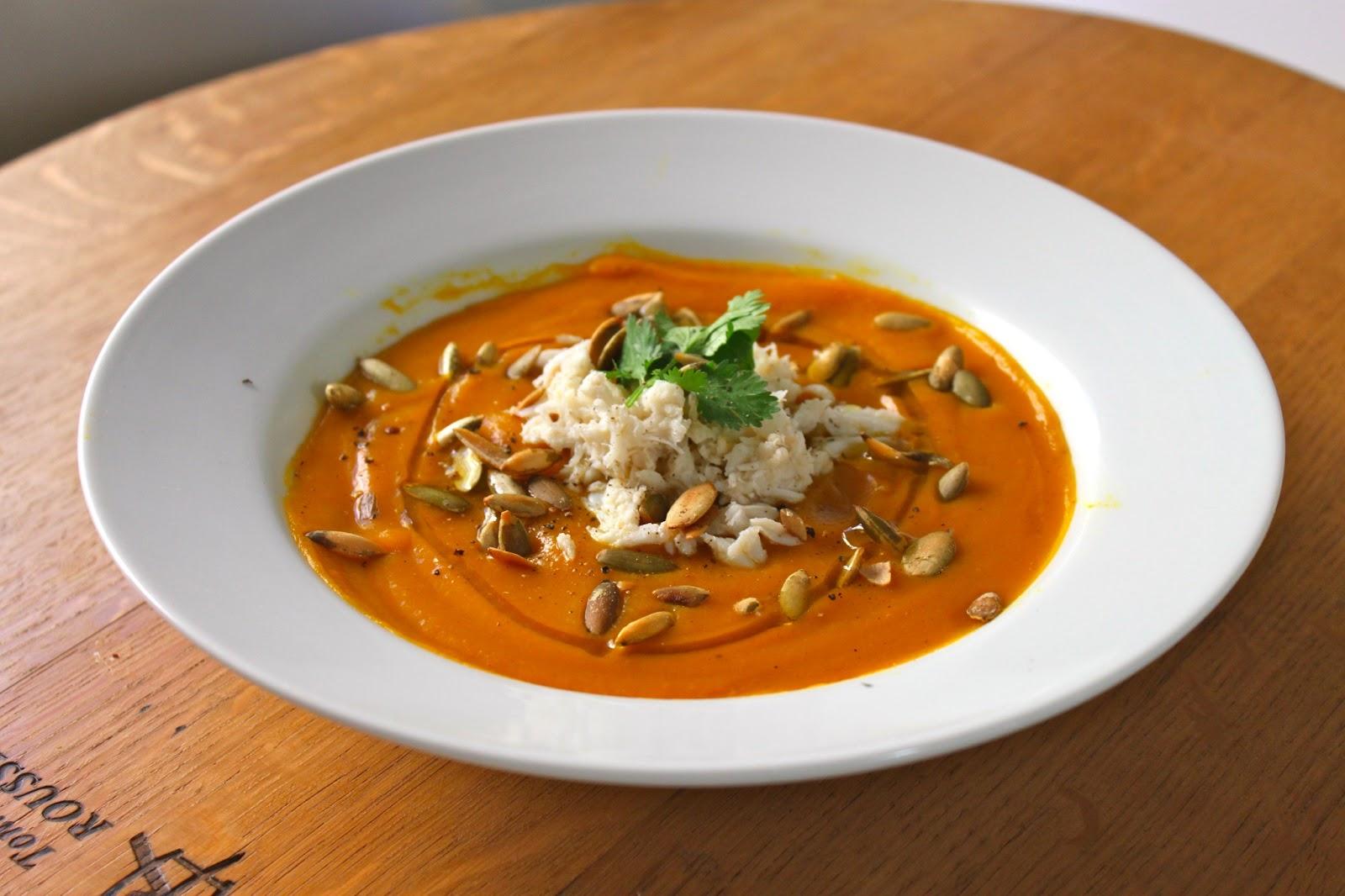 Domestic Divas Blog: Curried Butternut Squash Crab Soup
