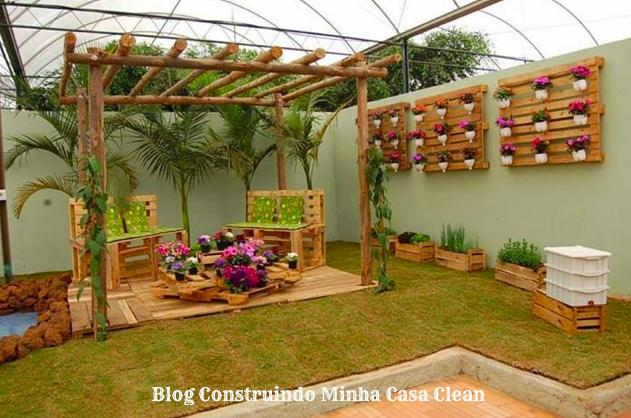 jardim vertical simples:Construindo Minha Casa Clean: 22 Jardins Verticais Maravilhosos! Veja