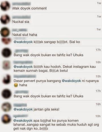 Wak Doyok Dikecam, Beri Komen Lucah Di Instagram Kilafairy?, info, terkini, hiburan, sensasi, gosip, kontroversi, wak doyok, Pelakon Kilafairy,