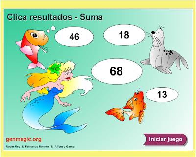 Clica y Suma,Sumas con una cifra,suma,operaciones,básicas,suma,Matemáticas,cálculo mental