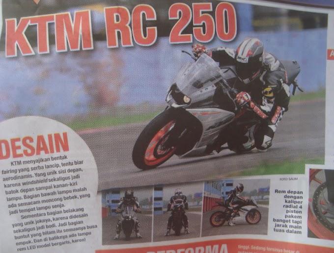 Perbandingan Performa KTM RC250 Vs Kawasaki Ninja RR Mono Vs Honda CBR250R Dual Keen