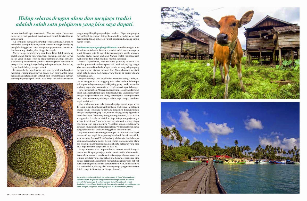 Berau Indonesia  City new picture : Berau Kalimantan Timur : National Geographic Traveler Indonesia April ...