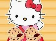 Hello Kitty chocolate muffins