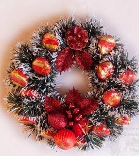 Como hacer coronas navide as cositasconmesh - Como hacer coronas navidenas ...