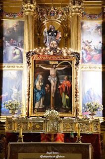 Cristo de Chircales presidiendo la iglesia