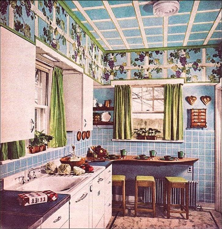 bluekitchen1949 farm girl pink better homes and garden fun colorful on - Homes And Gardens Kitchens