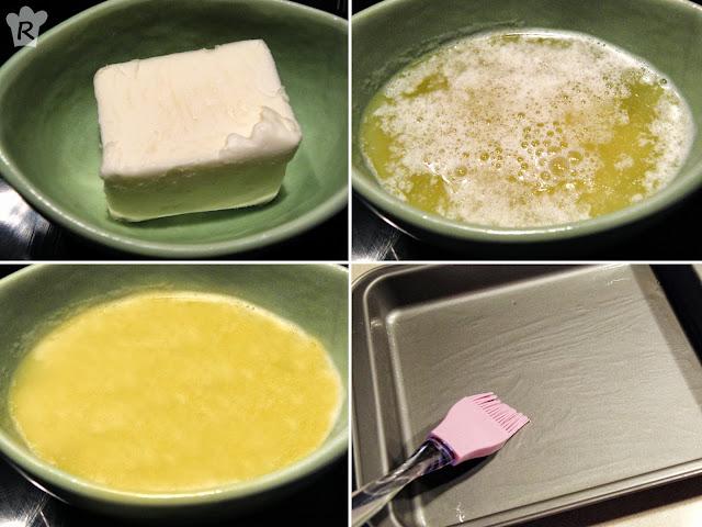 Derrite la mantequilla y pinta el molde