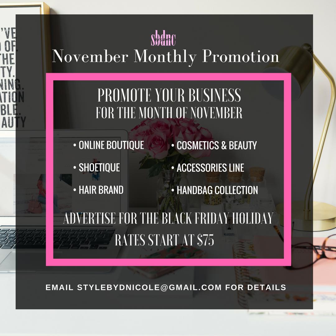 November Brand Promotion
