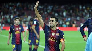 Xavi Hernandez scores in thirteenth Liga