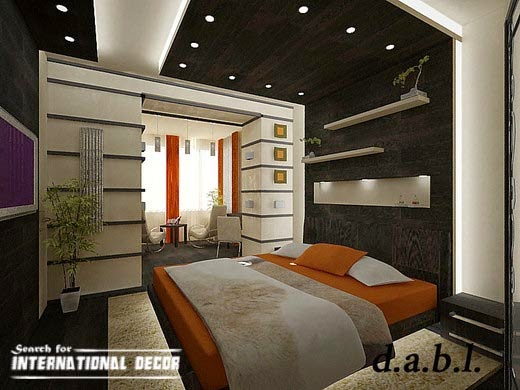 Japanese bedroom, Japanese style bedroom,black and white bedroom, drywall ceiling