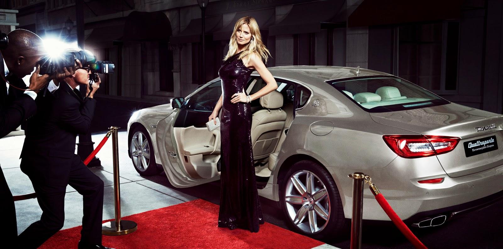 Heidi Klum for Maserati - TheGentlemanRacer.com