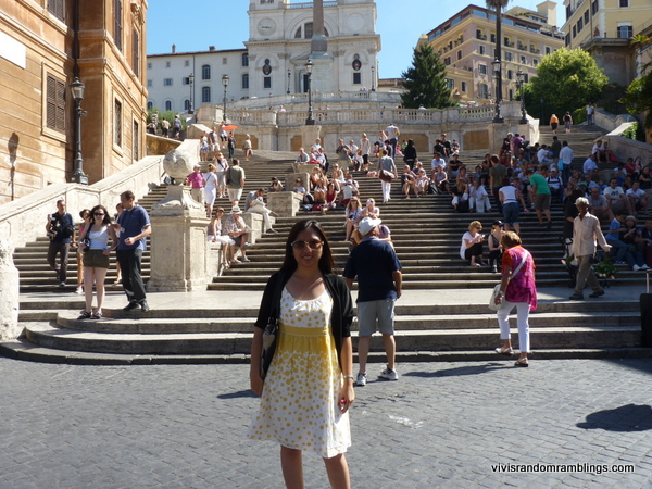 Spanish Steps and Trinita dei Monte Chuch , Rome Italy