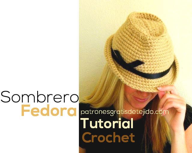 Cómo se teje sombrero  Fedora unisex